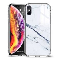 ESR Mimic- Marble hátlap tok Apple iPhone XR, fehér