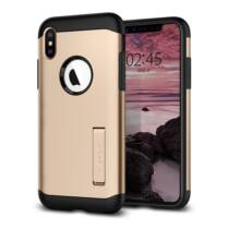 Spigen Slim Armor Apple iPhone Xs Max Champagne Gold tok, arany