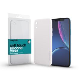 Xprotector Magnetic Soft Touch Silicone Case fehér Apple iPhone Xr készülékhez