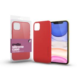 Xprotector Szilikon matte tok ultra vékony korallpiros Apple iPhone 11 készülékhez