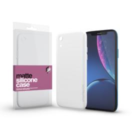 Xprotector Szilikon matte tok ultra vékony opál fehér Apple iPhone Xr készülékhez