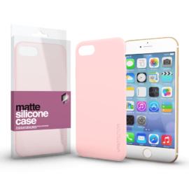 Xprotector Szilikon matte tok ultra vékony Púder pink Apple iPhone 7/8/SE (2020) készülékhez