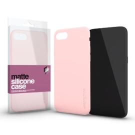 Xprotector Szilikon matte tok ultra vékony púder pink Samsung S10+ készülékhez