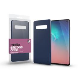 Xprotector Szilikon matte tok ultra vékony sötétkék Samsung S20+ készülékhez