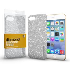 Xprotector Szilikon tok (Diamond) Ezüst Apple iPhone 7 / 8 / SE (2020) készülékhez