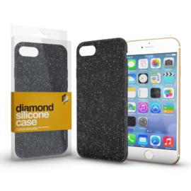 Xprotector Szilikon tok (Diamond) Fekete Apple iPhone 7 / 8 / SE (2020) készülékhez