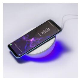 4smarts VoltBeam N8, 10W vezeték nélküli gyorstöltő beépített led, óra és ébresztő funkcióval, fehér