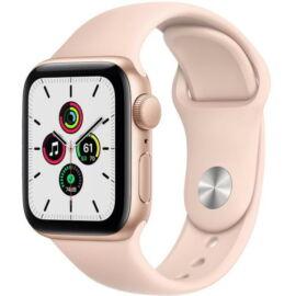 Apple Watch SE GPS 40 mm arany alumíniumtok, rózsaszín sportszíj