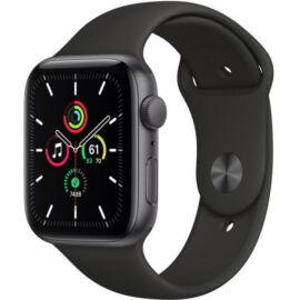 Apple Watch SE GPS – 44 mm-es asztroszürke alumíniumtok, fekete sportszíj