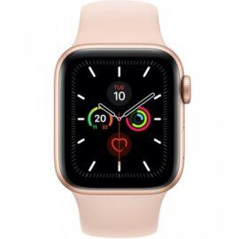 Apple Watch Series 5 GPS – 44 mm-es aranyszínű alumíniumtok, rózsaszín sportszíj