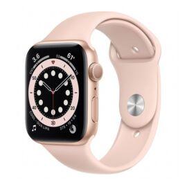 Apple Watch S6 GPS okosóra, 44mm, Arany alumínium, rózsakvarc sportszíj