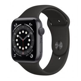 Apple Watch S6 GPS okosóra, 44mm, Asztroszürke alumínium, fekete sportszíj