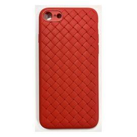 Apple iPhone SE (2020)/8/7 Braided szilikon hátlap tok, piros