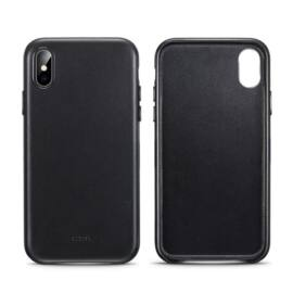 ESR Oxford Leather hátlap tok Apple iPhone XR, fekete