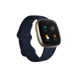 Fitbit Versa 3 okosóra, Éjkék/Arany
