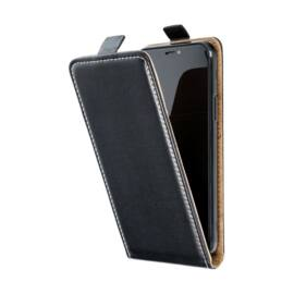 Flip tok szilikon belsővel Apple iPhone 12 Pro Max, fekete