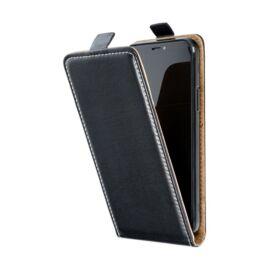 Flip tok szilikon belsővel Xiaomi Note 9 Pro, fekete