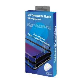 Goldspin Samsung Galaxy A42 5G Nano Silk hajlított kijelzővédő üvegfólia, fekete