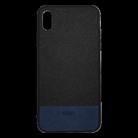 Mofi Szövet PU bőr hátlap tok Xiaomi Pocophone F1, fekete