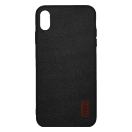 Mofi Szövet hátlap tok Xiaomi Redmi Note 6, fekete