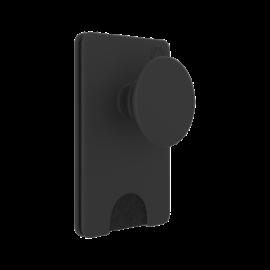 Popsockets telefontartó, PopWallet+ Black
