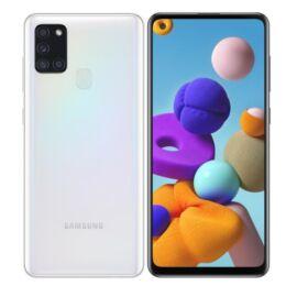 Samsung Galaxy A21S 32GB 3GB Dual (A217F) feher, Gyártói garancia