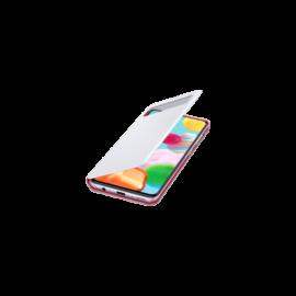 Samsung A415 Galaxy A41 Clear View Cover, gyári flip tok, fehér, EF-EA415PWEGEU