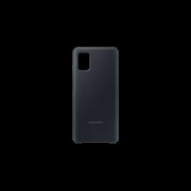 Samsung A515 Galaxy A51 Silicone Cover, gyári szilikon tok, fekete, EF-PA515TB
