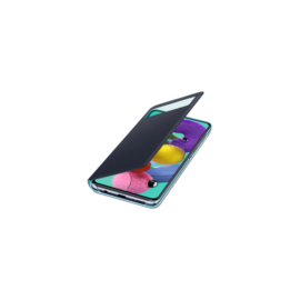 Samsung A515 Galaxy A51 S-View Wallet Cover, gyári flip tok, fekete, EF-EA515PB