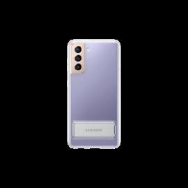 Samsung G991 Galaxy S21 Clear Standing Cover, gyári tok, átlátszó, EF-JG991CT