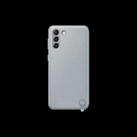 Samsung G996 Galaxy S21+ Kvadrat Cover, gyári szövet tok, szürke, EF-XG996FJ
