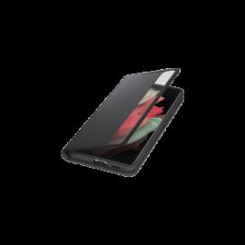 Samsung G998 Galaxy S21 Ultra Clear View Cover + S Pen, gyári flip tok, fekete, EF-ZG99PCB