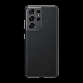 Samsung G998 Galaxy S21 Ultra Leather Cover gyári bőr tok, fekete, EF-VG998LB