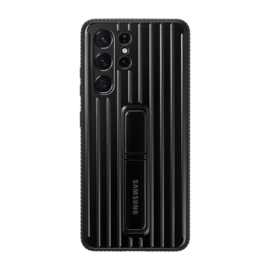 Samsung G998 Galaxy S21 Ultra Protective Standing Cover gyári tok, fekete, EF-RG998CB