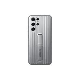 Samsung G998 Galaxy S21 Ultra Protective Standing Cover gyári tok, szürke, EF-RG998CJ