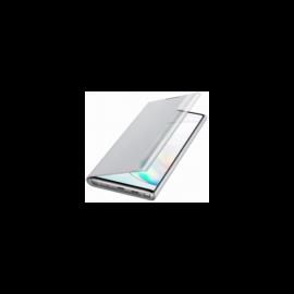 Samsung N970 Galaxy Note 10 gyári Clear View Cover, flip tok, ezüst, EF-ZN970CS