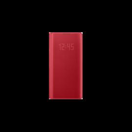 Samsung N970 Galaxy Note 10 LED View Cover, gyári flip tok, piros, EF-NN970PR