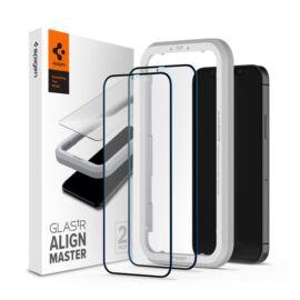 Spigen AlignMaster Glas.tR Apple iPhone 12 mini Tempered kijelzővédő fólia (2db)