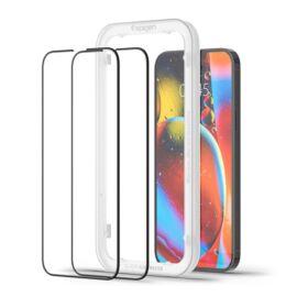 "Spigen AlignMaster ""Glas.tR"" Apple iPhone 13 Pro Max Tempered kijelzővédő fólia (2db)"