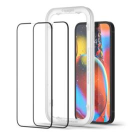 "Spigen AlignMaster ""Glas.tR"" Apple iPhone 13 mini Tempered kijelzővédő fólia (2db)"