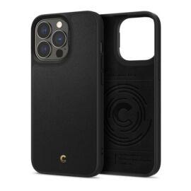 Spigen Ciel Cyrill Apple iPhone 13 Pro Leather Brick Black tok, fekete