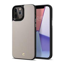 Spigen Ciel Cyrill Apple iPhone 12 Pro Max Leather Brick Stone tok, kavicsszürke