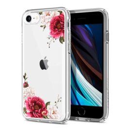 Spigen Ciel Cyrill Apple iPhone SE (2020)/8/7 Cecile tok, Red Floral virág