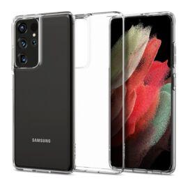 Spigen Crystal Flex Samsung G998 Galaxy S21 Ultra Crystal Clear tok, átlátszó