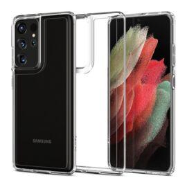 Spigen Crystal Hybrid Samsung G998 Galaxy S21 Ultra Crystal Clear tok, átlátszó
