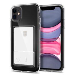 Spigen Crystal Slot Apple iPhone 11 Crystal Clear kártyatartó tok, átlátszó