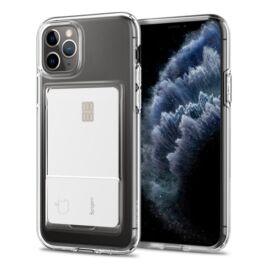 Spigen Crystal Slot Apple iPhone 11 Pro Crystal Clear kártyatartó tok, átlátszó