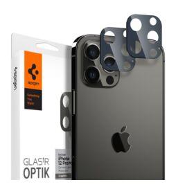 Spigen Glas.TR Optik Apple iPhone 12 Pro Max Tempered kamera lencse fólia, grafit, 2db