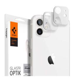 Spigen Glas.TR Optik Apple iPhone 12 Tempered kamera lencse fólia, fehér, 2db