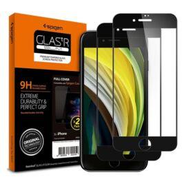 Spigen Glass FC Apple iPhone SE (2020)/8/7 Tempered kijelzővédő fólia 2db, fekete